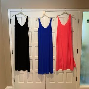 3 J Crew silk midi dresses in size small